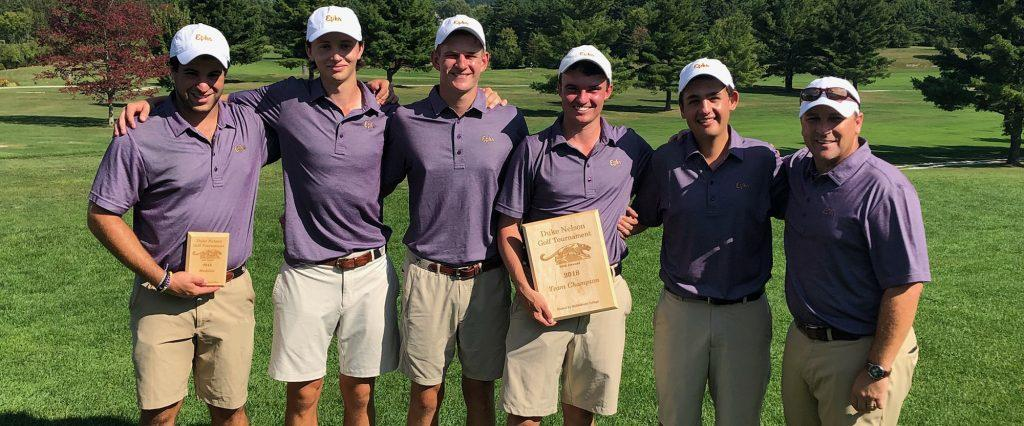 Men's golf traveled with five athletes to the Duke Nelson Invtiational. Co-captain Sam Goldenring '20 placed first in the tournament, three shots better than the second-place competitor. Photo Courtesy of Sports Information.