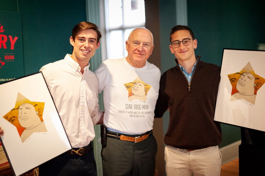 College alum donates 'Star Frog Man' art to biggest fans