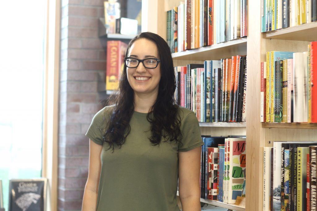 SOPHIA SHIN/PHOTO EDITOR Melinda Diaz has worked at the Williams Bookstore for the past year.