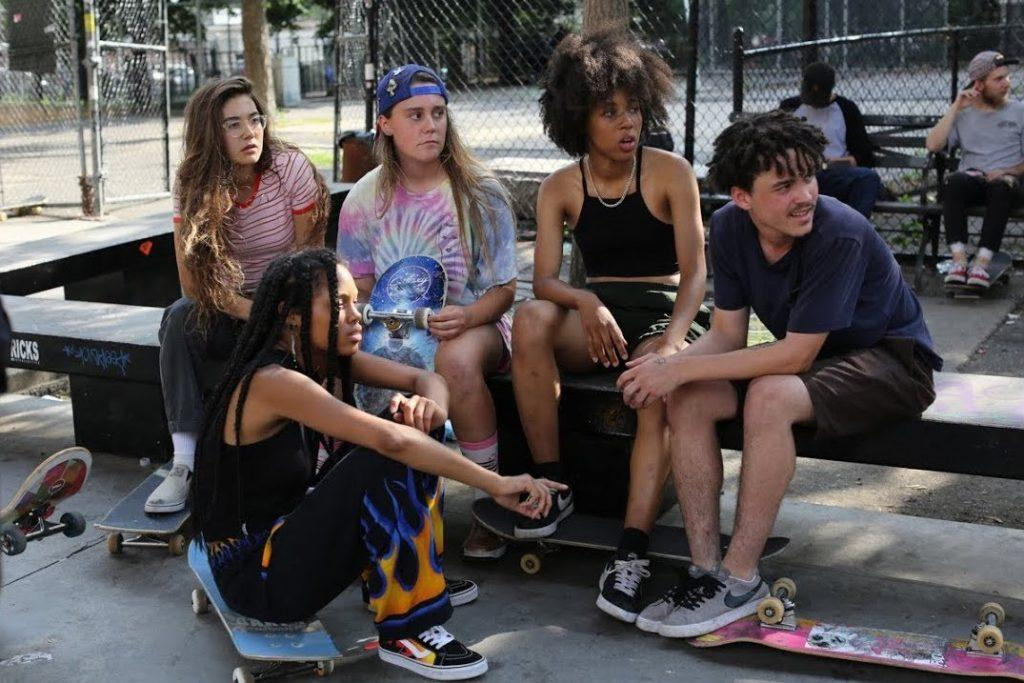 PHOTO COURTESY OF NEW YORK TIMES Crystal Moselle's latest coming-of-age film features a group of young female skateboarders in New York City.