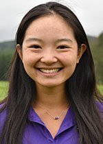 Chan had a record-breaking low round last Sunday in the Mt.Holoyoke Invitational,  leading to a first place individual finish.  Photo courtesy of Sports Information.