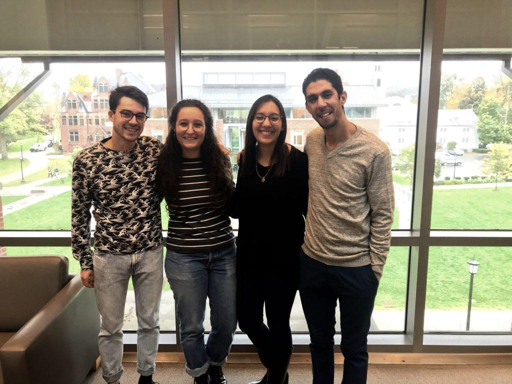This year, the College is hosting four Fulbright foriegn language teaching assistants in the Arabic studies, French and Spanish departments. Photo courtesy of Alejandro Beas Murillo.