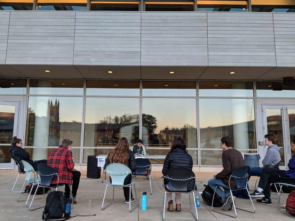 WAFFLES has hosted several Harry Potter events, with students reading aloud the books for hours. Photo courtesy of Ben Stanley.