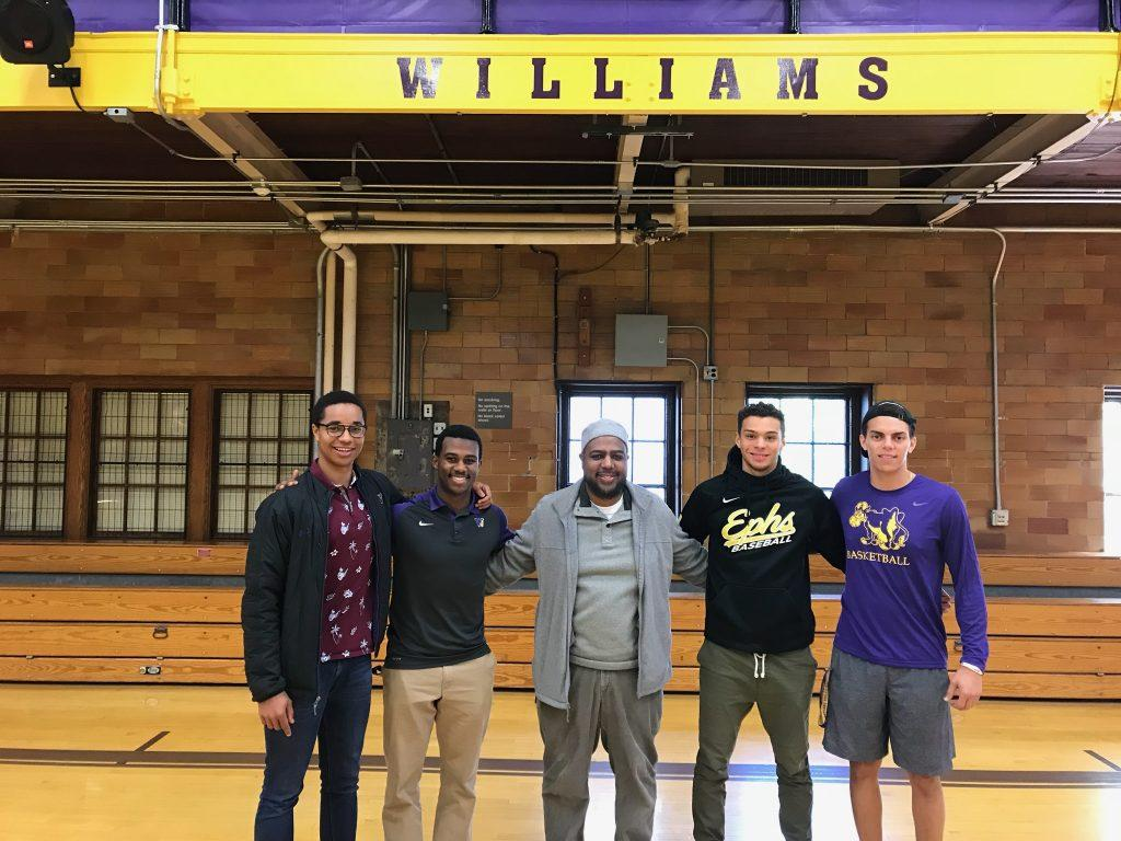 The founders of the Gaius C. Bolin chapter of  SAAC hope to create an inclusive community for student-athletes of color at the College. Photo courtesy of SACC.
