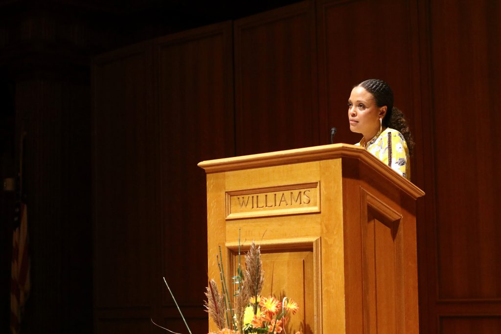 Ward's book, Sing, Unburied, Sing, was inspired by her experience growing up as a black woman in the South. It was this year's Williams Reads book.  Sophia Shin/Photo Editor