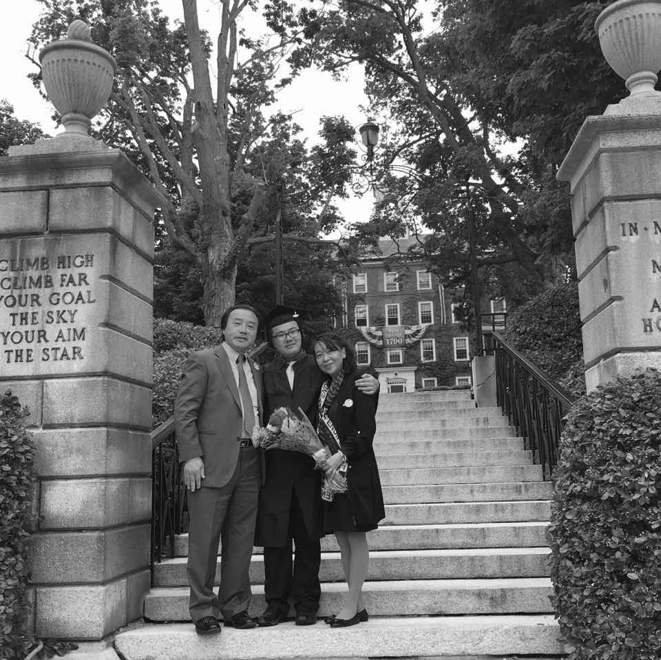Wang (center) has argued that colleges and universities discriminate against Asian Americans during the application process, citing his personal experience applying to colleges. Photo courtesy of Michael Wang.
