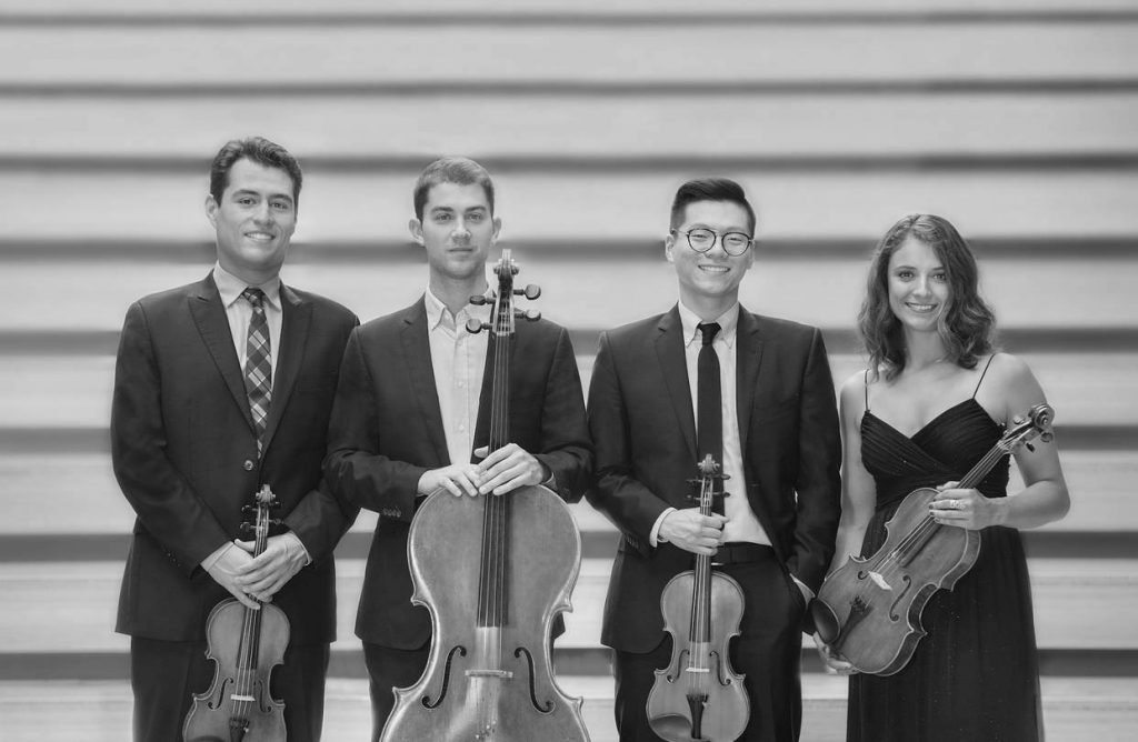 Up-and-coming string quartet brings distinctive sound to the College