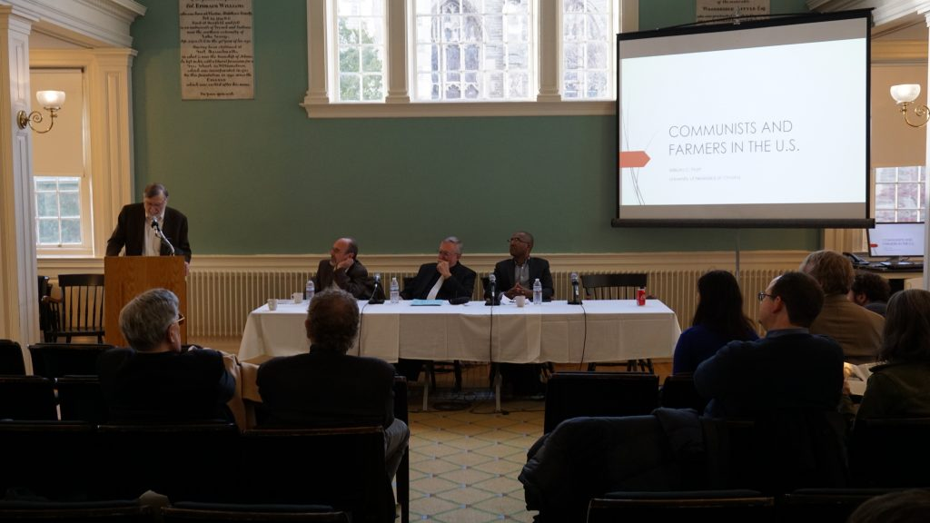 The Stanley Kaplan Program held a conference at the College for the centennial anniversary of the CPUSA. Photo courtesy of Glenn Gebhard.