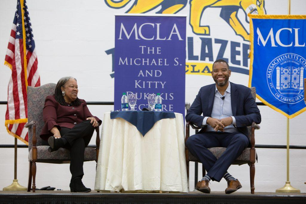 Ta-Nehisi Coates discussed writing, politics and upcoming projects at MCLA as part of a public policy lecture series. Photo courtesy of MCLA.