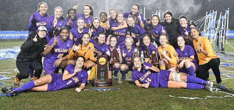 In Greensboro, N.C., women's soccer defeated Christopher Newport and Middlebury in the semifinal and finals, respectively, winning their second consecutive NCAA Div. III Championship title. Photo courtesy of Sports Information.