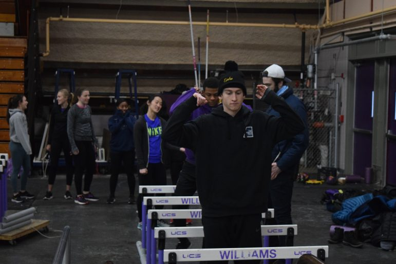The track and field teams, unable to access the Towne Field House, currently practice in Lansing Chapman Rink. Sabrine Brismeur/Photo Editor.