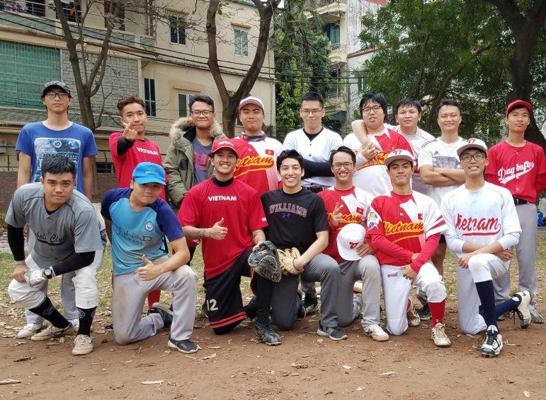 John DiGravio '21 helps to coach baseball teams in Hanoi, Vietnam