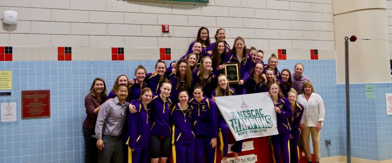 Women's swimming captures sixth straight NESCAC title