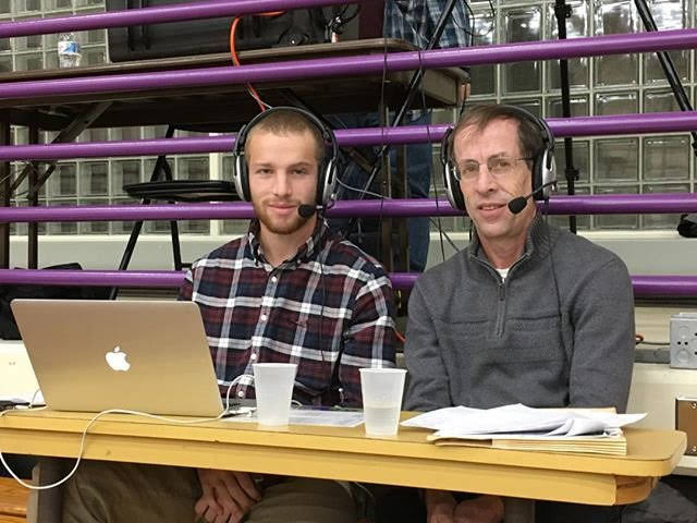 Alan Hirsch and his son Eric Hirsch '19 have attended Eph basketball games together since 2003 and now serve as NSN commentators.