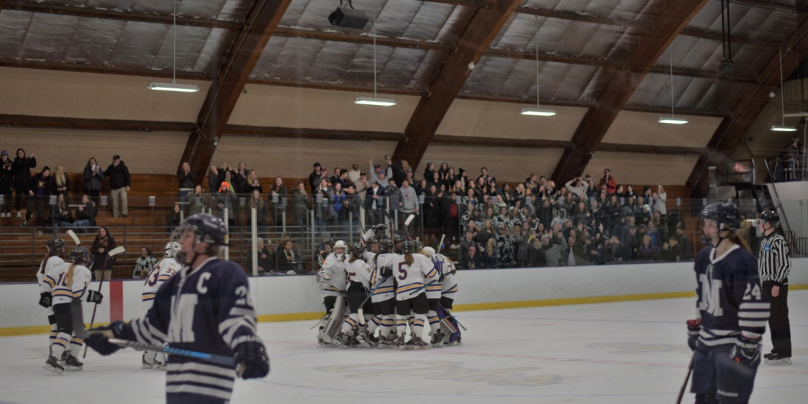 Women's hockey sweeps Midd, clinches home ice advantage ...
