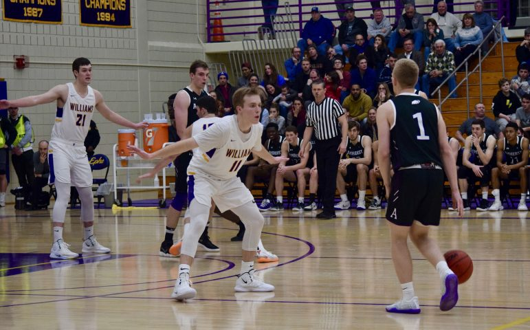 Bobby Casey '19 scored 29 points, including five 3-pointers, on Friday night. Casey is one of three career 1000-point scorers on the team.