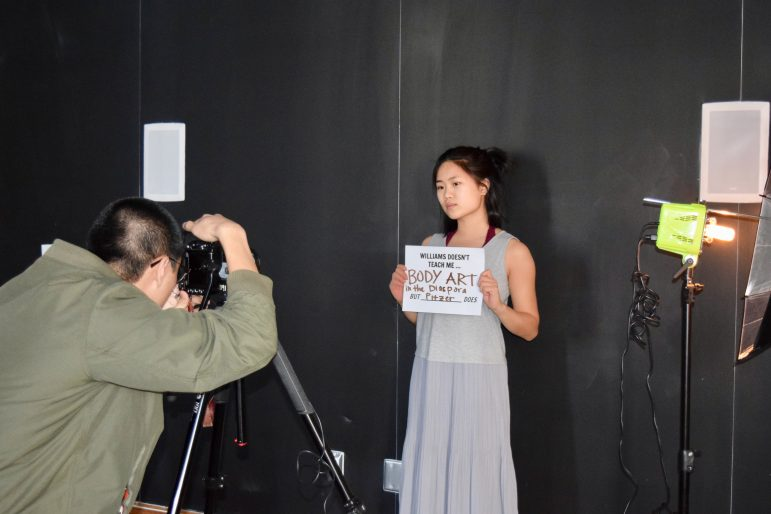 The photo campaign referenced AAS courses offered by peer institutions. SABRINE BRISMEUR/PHOTO EDITOR