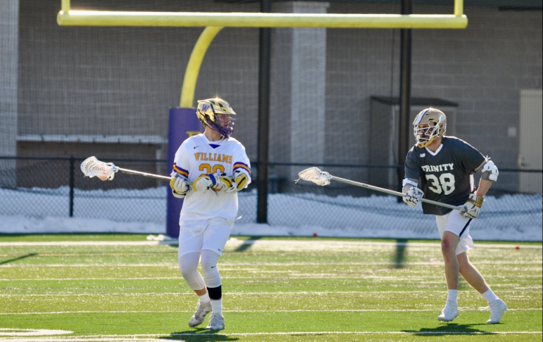 Men's lacrosse attacker and last season's leading scorer Kevin Stump '20 scored 6 goals in the first two games of the team's season.