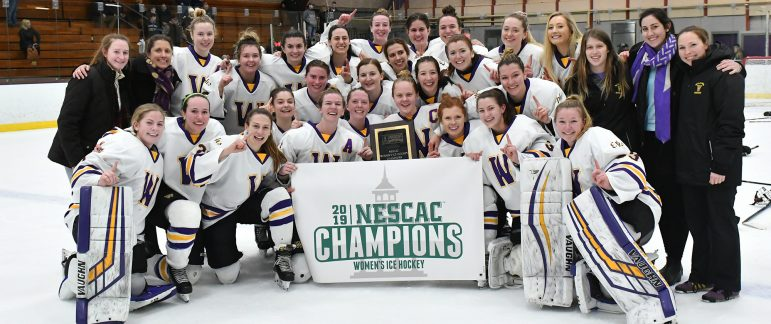 The women completed season sweeps of both Middebury and Amherst to claim the NESCAC title in Lansing Chapman Rink.