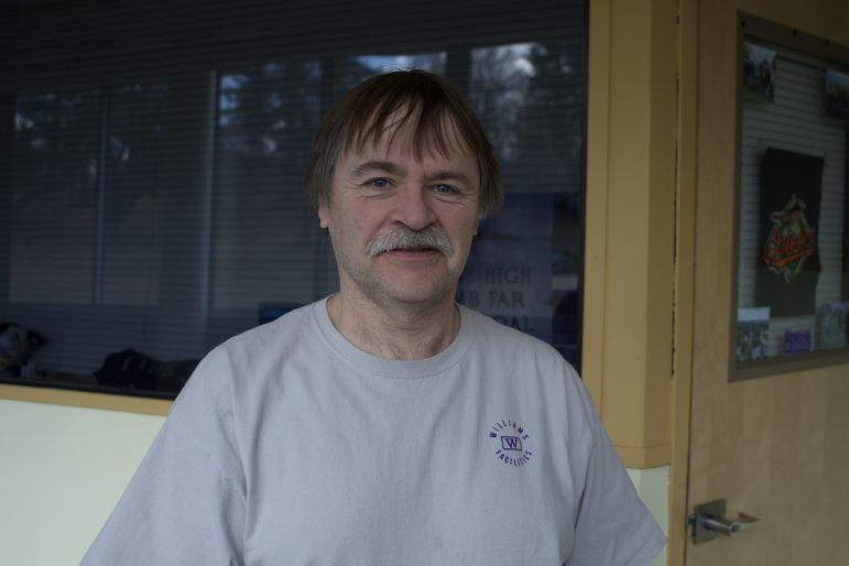 In his job as a custodian, Andy Briggs works to make Pratt a home away from home for first-year residents.