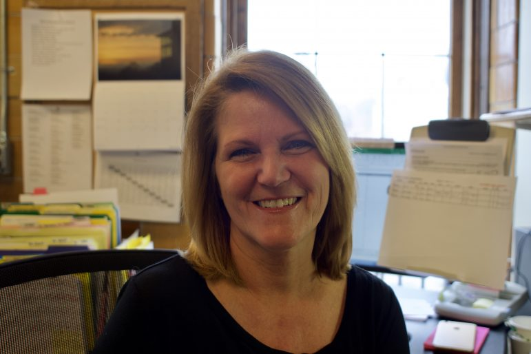 Athletics' travel coordinator and team scheduler Tammy Wright is in her 29th year at the College.