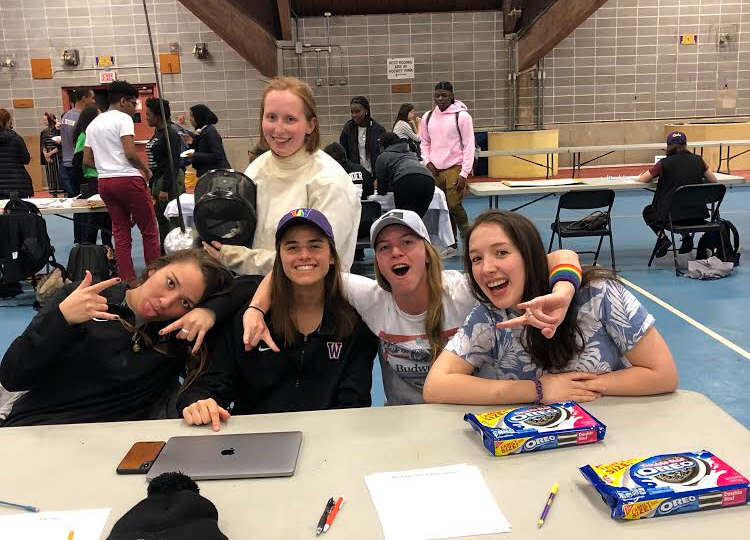 Students tabled for ABS at the Purple Key Fair this year, handing out Oreos and welcoming new students to join the group. Photo courtesy of Ang Vecchiarelli.