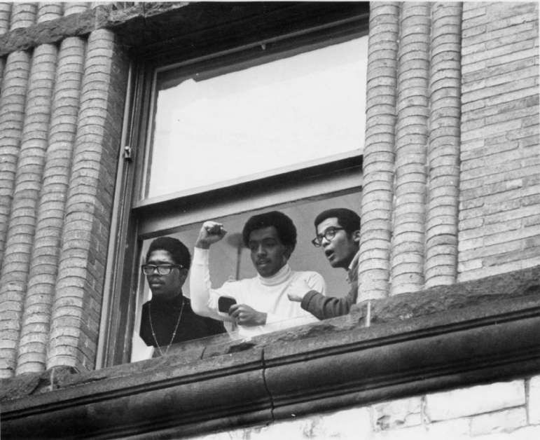Fifty years ago, students from the Afro-American Society occupied Hopkins Hall, prompting the creation of the Africana studies program. PHOTO COURTESY OF COLLEGE ARCHIVES.