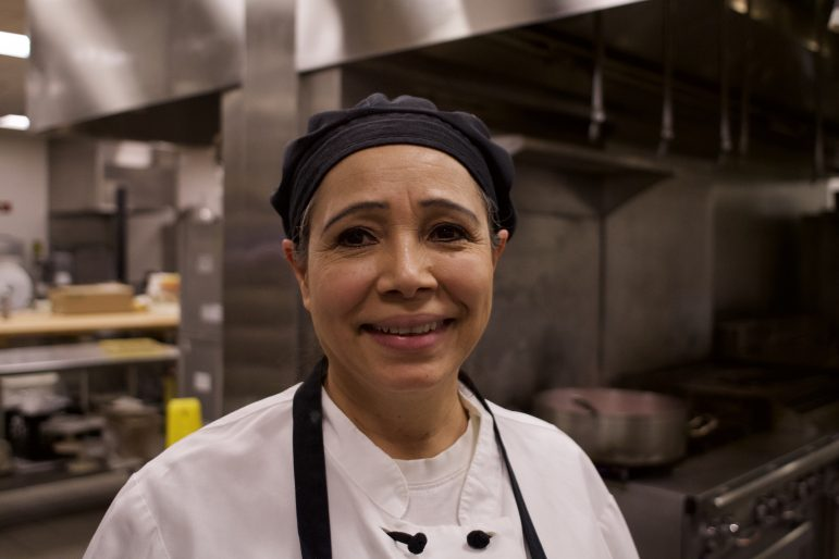 Ada Moreno, a cook at Whitmans', also cares for elderly people in their homes and cleans apartments. ANIAH PRICE/PHOTO EDITOR