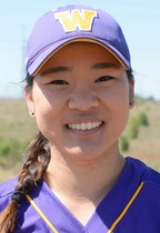 Jessica Kim '19 is one of two softball captains. Photo courtesy of Sports Information.