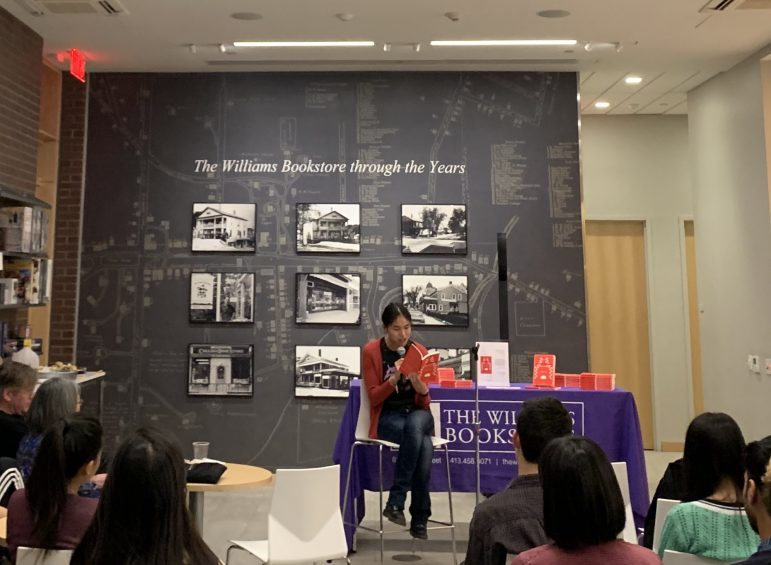 Suiyi Tang '20 read from her novel 'American Symphony' yesterday at a launch event hosted by the Williams Bookstore.