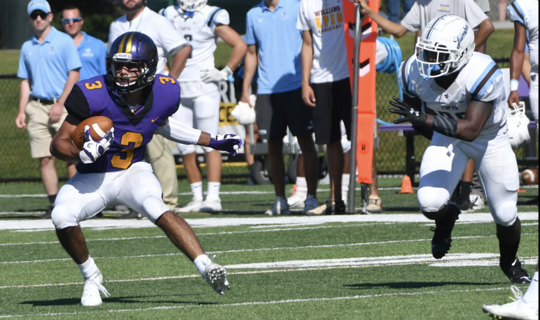 Frank Stola '21 earned NESCAC Special Teams Player of the Week on Oct. 26, which marks his third NESCAC honor this season. (Photo Courtesy of Sports Information.)