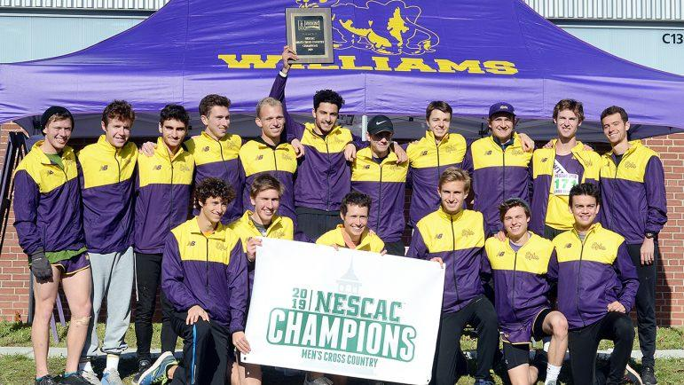 The men secured the NESCAC title on Saturday, breaking Amherst's two-year winning streak. (Photo courtesy of Sports Information.)