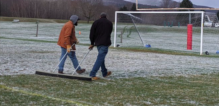 Many community members support turf installation, citing concerns over natural grass maintenance. (Photo courtesy of Mount Greylock Regional High School Athletics.)