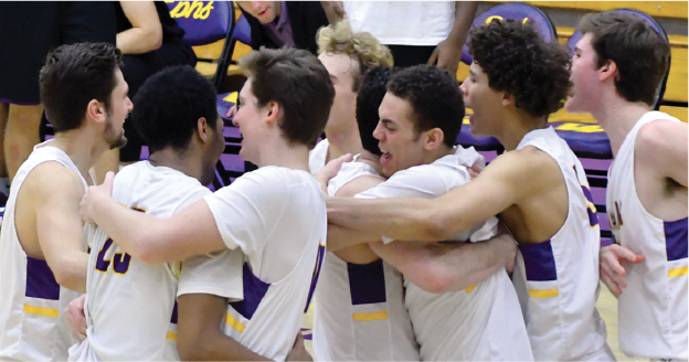 Nine different Ephs contributed in scoring to overcome a 14-point deficit against the Mammoths. (Photo courtesy of Sports Information.)