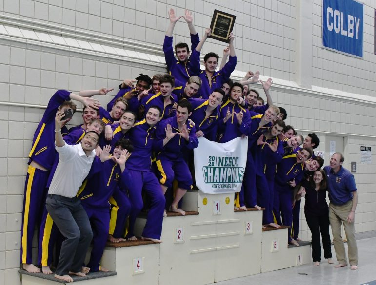 Men's swimming and diving wins 18th NESCAC championship