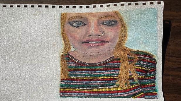 Junior art major Ginya Marr '21  combines creativity with interests