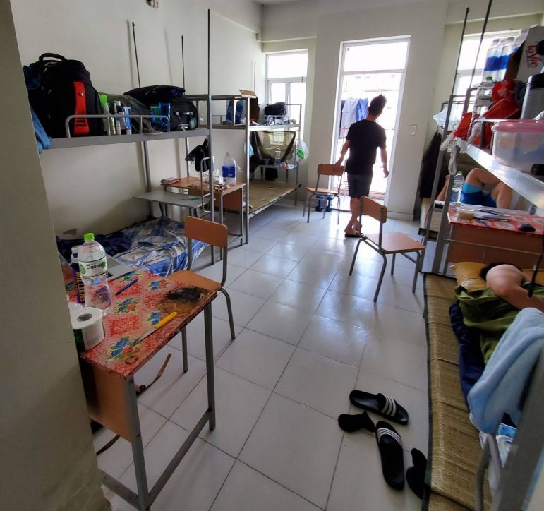 PHOTO COURTESY OF PETER LE. Peter Le '21 was quarantined in a dormitory at Vietnam National University in Ho Chi Minh City for over two weeks.