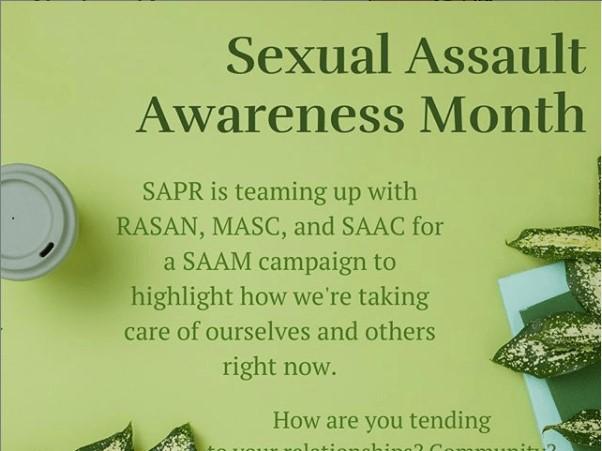 Sexual Assault Awareness Month campaign kicks off on social media