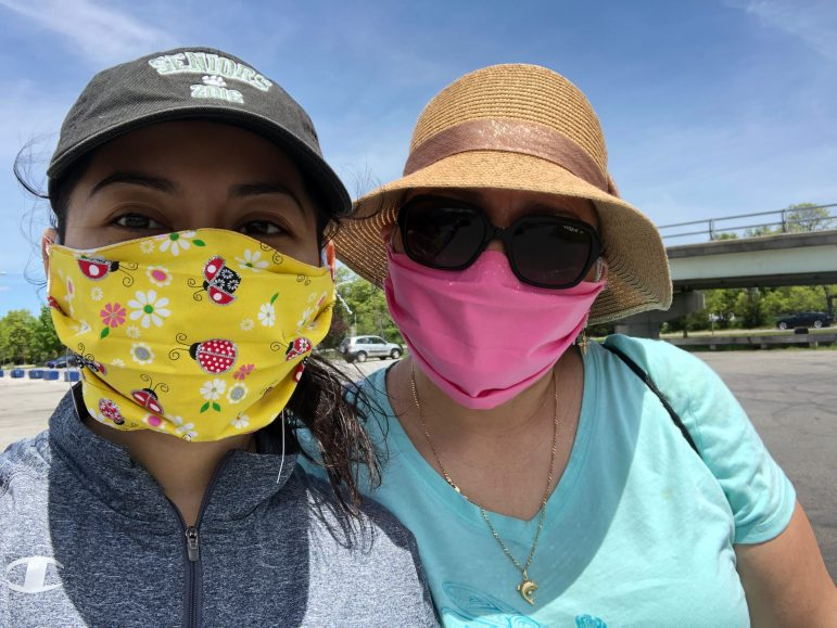 After battling with COVID-19 symptoms, Calle and her mother went for a walk last weekend in Flushing Meadow Park in Queens, New York. (Photo courtesy of Tania Calle.)