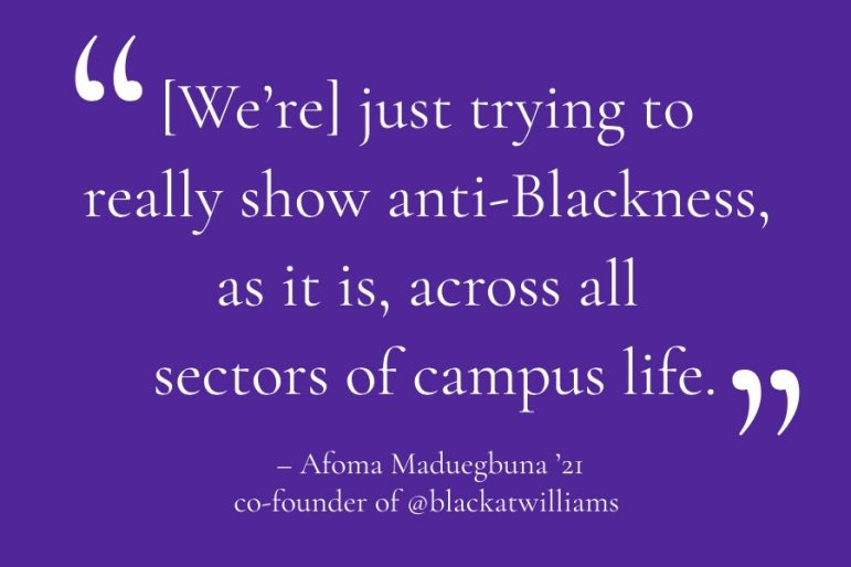 """This is being Black at Williams:"" Instagram account amplifies Black voices, issues of racism within the College"