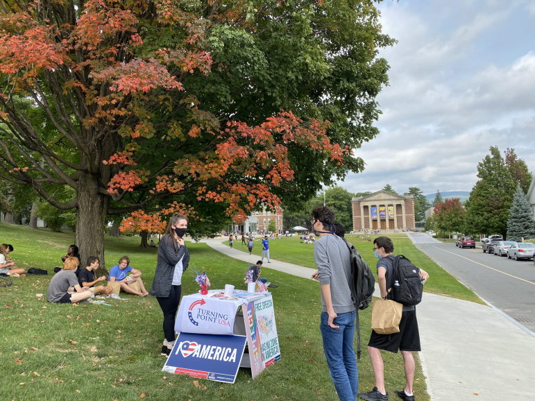 Conservative student group representative visits campus in violation of COVID-19 regulations