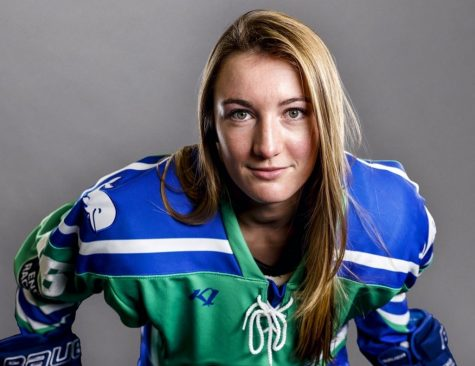 Beattie has spent four seasons in the NWHL (Photo Courtesy of Hanna Beattie '17)