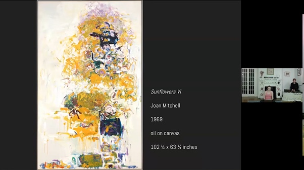 Kamen and Hann's source of inspiration was Joan Mitchell's Sunflowers VI. (Yuchan Kim/The Williams Record)