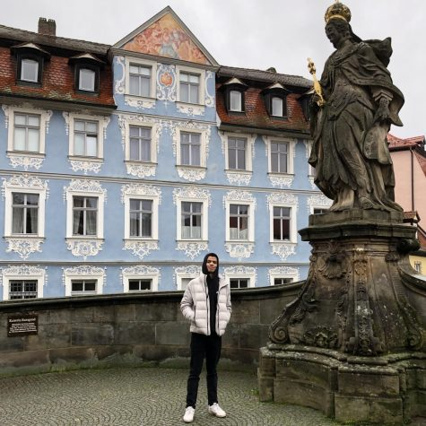 Elijah Washington '24 spent nine months in Germany. (Photo courtesy of Elijah Washington.)