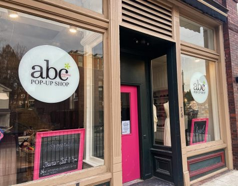 The ABC Sale has been one of the most popular destinations on Spring Street for students since the storefront opened on Nov. 5. The store carries affordable clothing, shoes, and accessories, and all remaining funds after operating costs go to other local non-profit organizations and programs. (Ella Marx/The Williams Record)