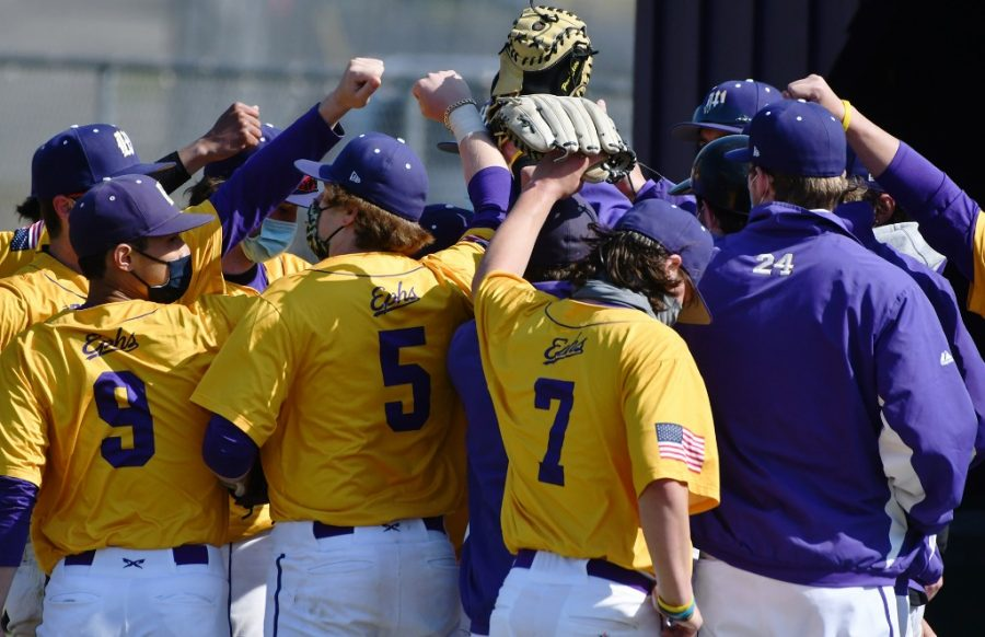 Baseball started spring competition with three straight wins against Hamilton last weekend. (Photo Courtesy of Sports Information).