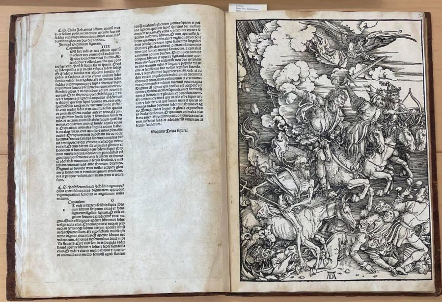 One of the most famous plates from Apocalypse, The Four Horsemen of the Apocalypse. (Yuchan Kim/The Williams Record)