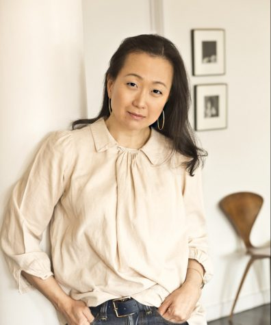 """""""My sense of outrage is triggered again and again and again right now… I wrote this book as an act of activism,"""" Min Jin Lee said of her decision to write Pachinko. (Photo courtesy of www.minjinlee.com.)"""