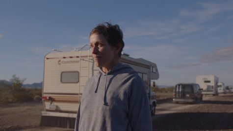 "Frances McDormand in ""Nomadland,"" directed by Chloé Zhao. (Photo courtesy of Searchlight Pictures.)"