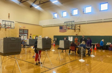 Polls were open yesterday from 7 a.m. to 8 p.m. at the Williamstown Elementary School to decide six local offices. (Ella Marx/The Williams Record)